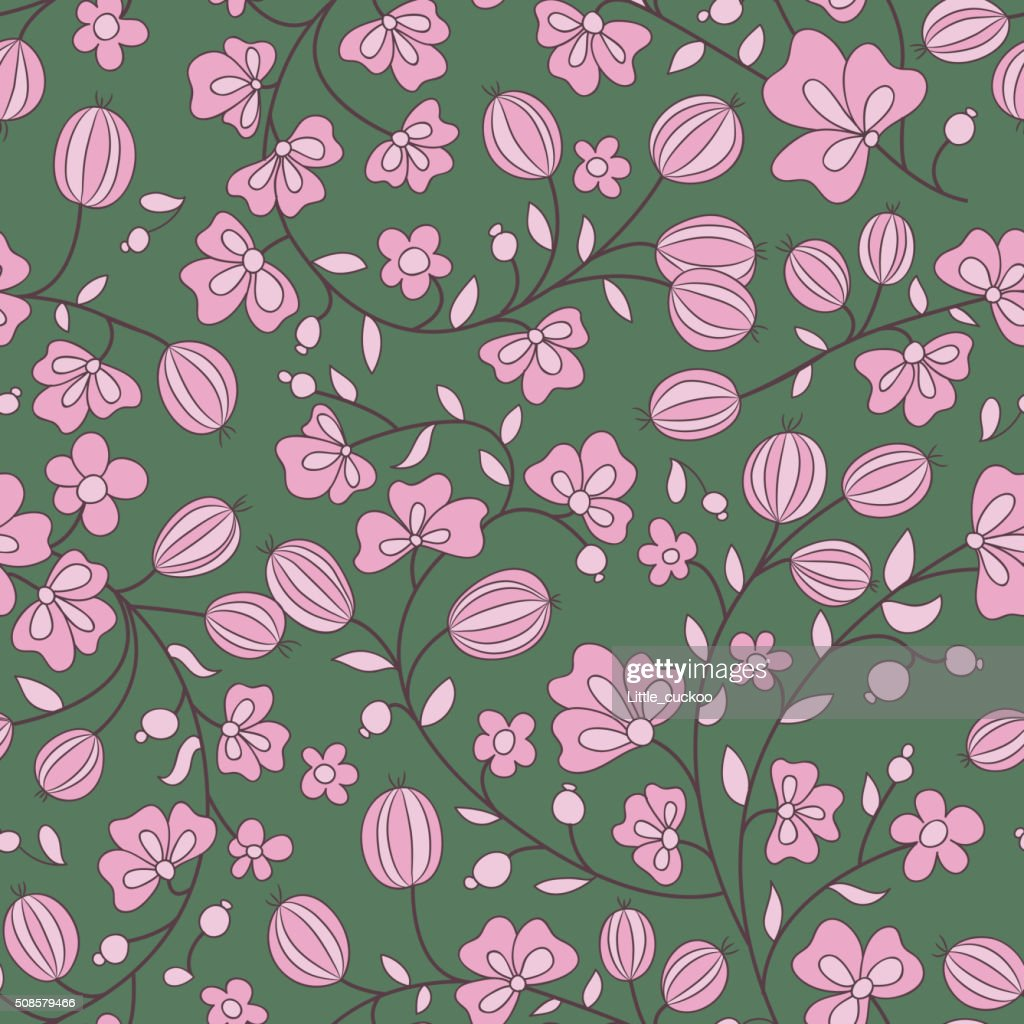 gooseberry seamless texture. vector pattern : Vector Art