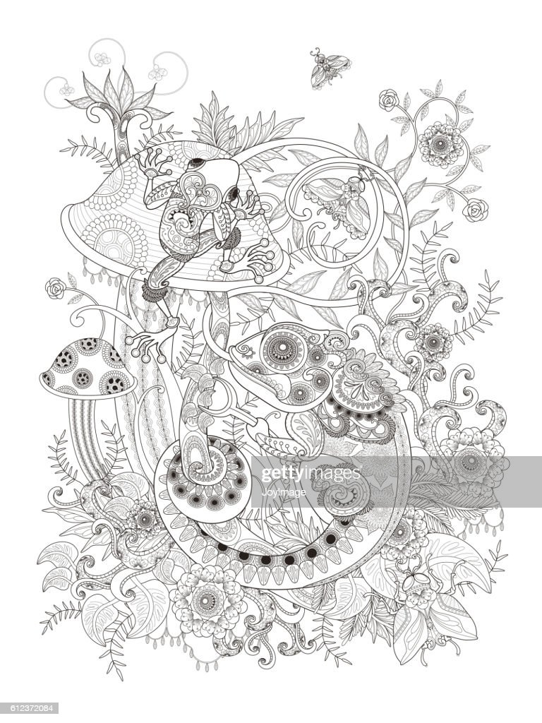 Gorgeous adult coloring page
