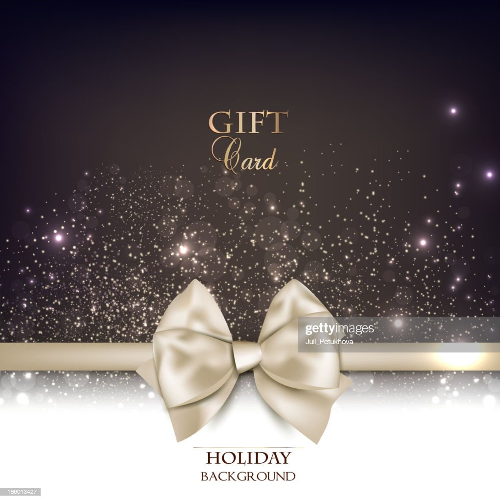 Gorgeous gift card with white bow