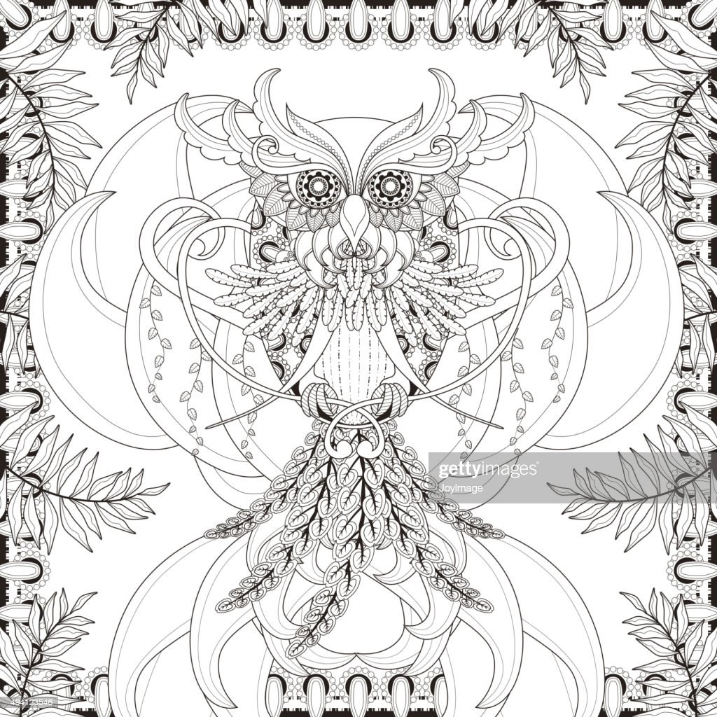 gorgeous owl coloring page
