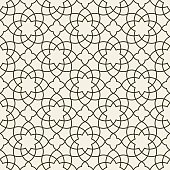 Gorgeous Seamless Arabic Pattern Design. Monochrome Wallpaper or Background.