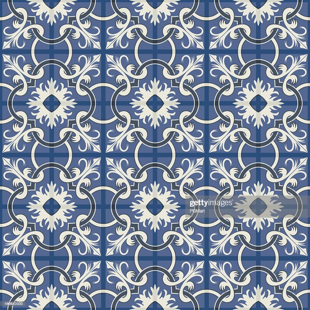 Gorgeous seamless patchwork pattern. Moroccan tiles, ornaments.