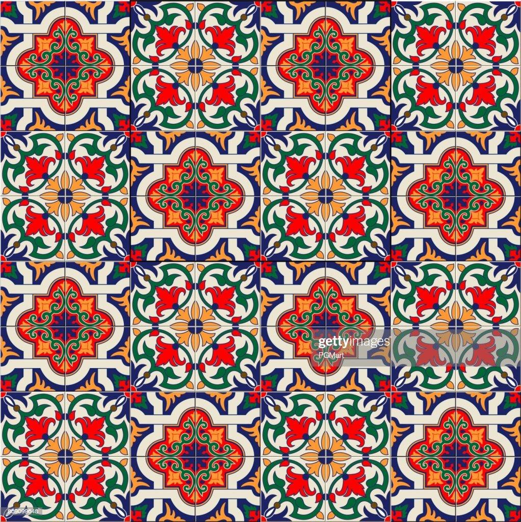 Wunderschöne Weiße Musterdesign Bunte Marokkanisch Portugiesischen - Tapete portugiesische fliesen