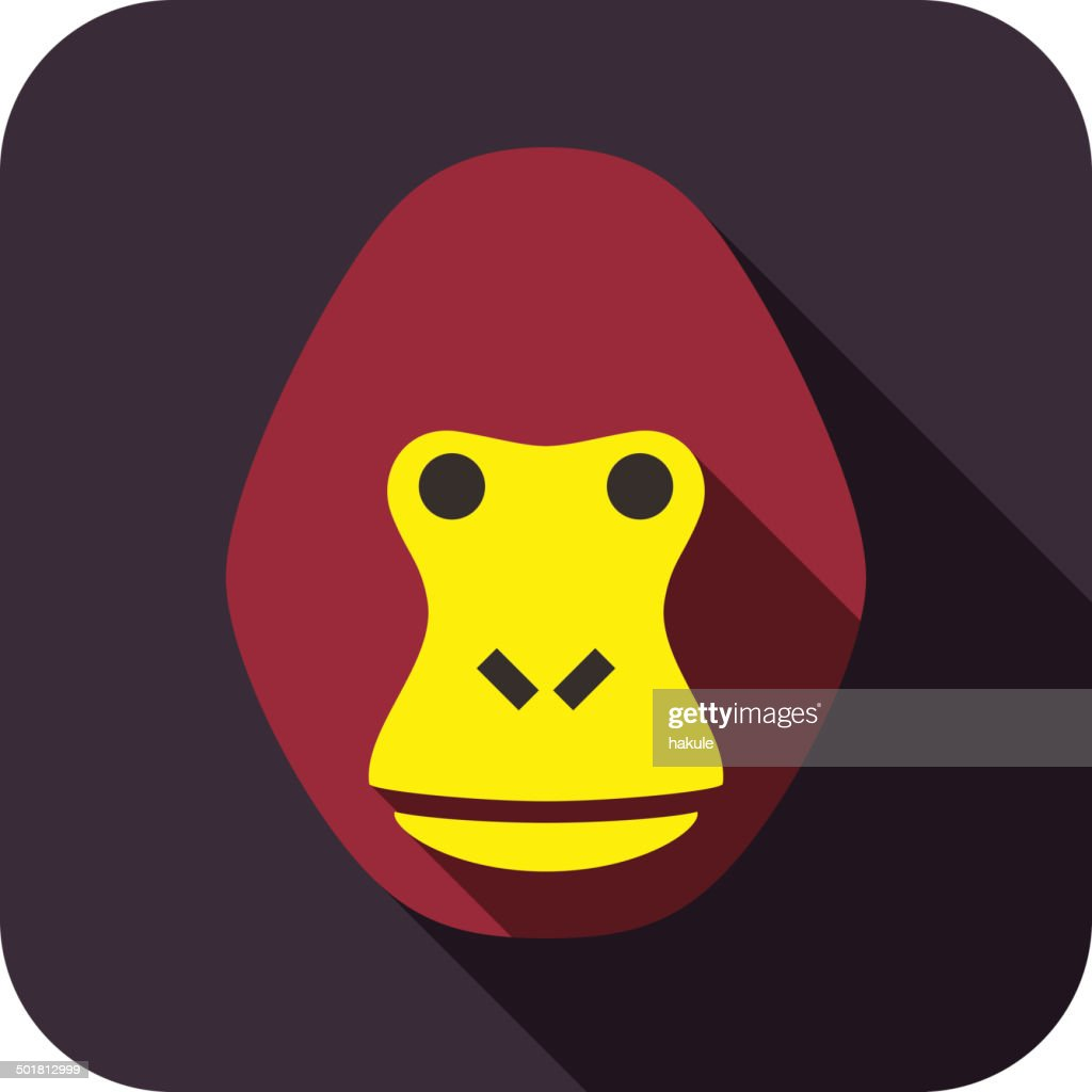 Gorilla animal face icon