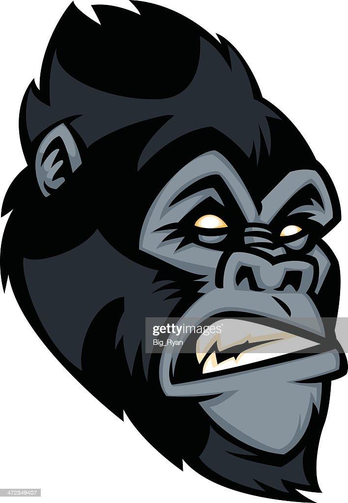 Gorila de cara : Ilustración de stock
