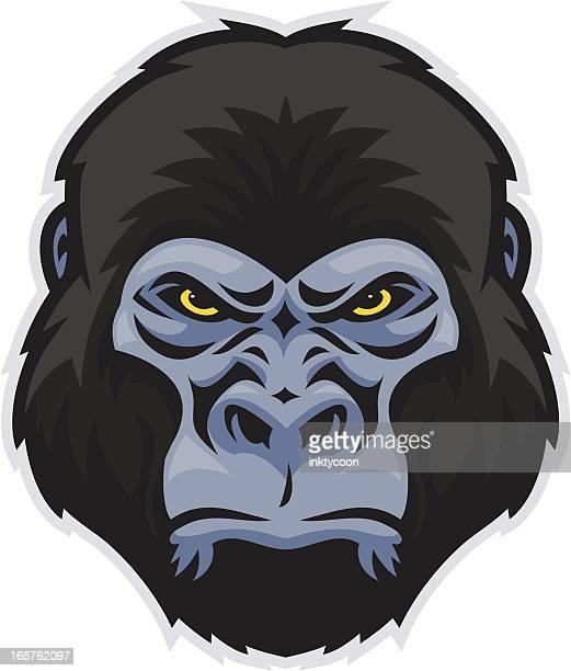 Happy Cartoon Gorilla Face 60 Top Gorilla ...