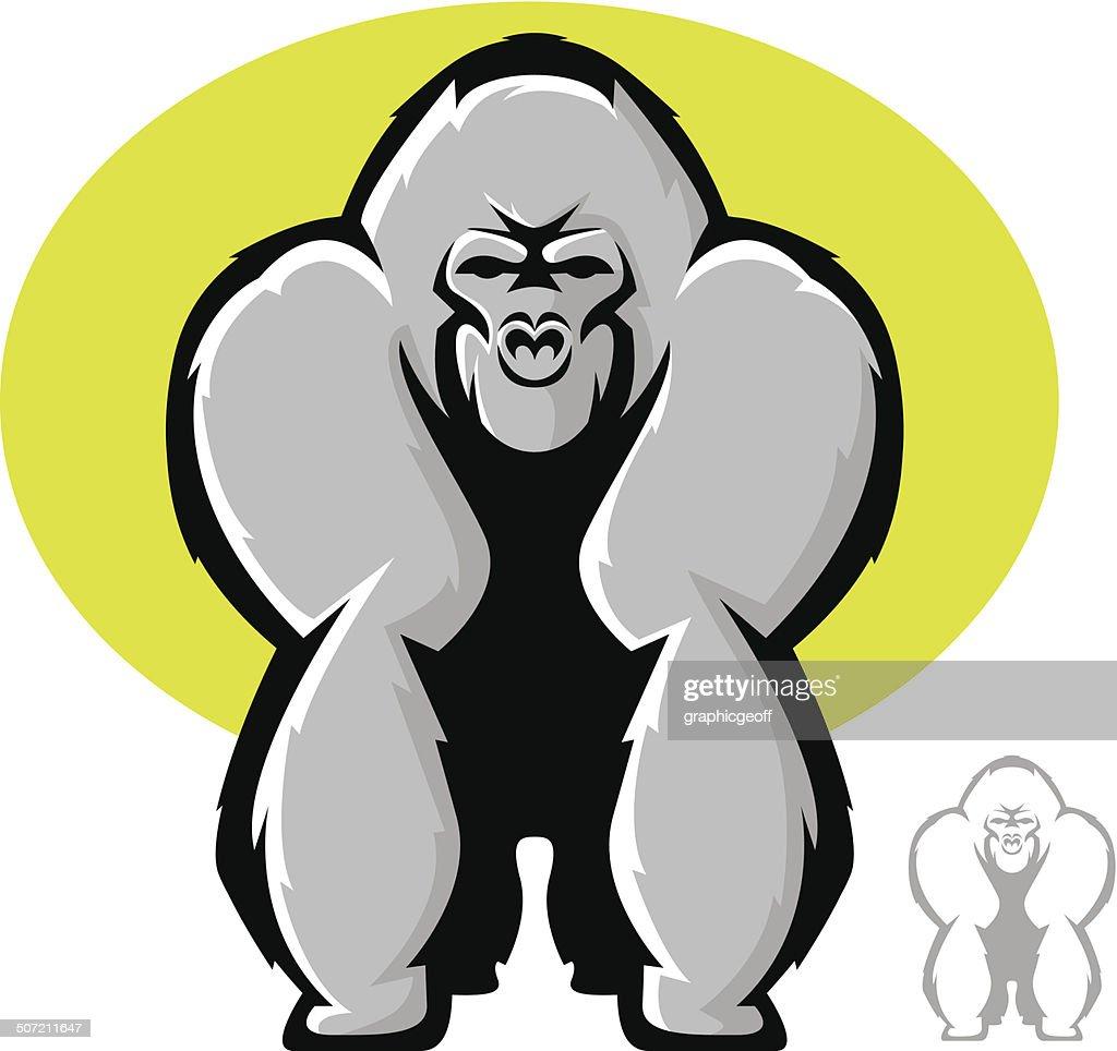 Gorilla Mascot Front View