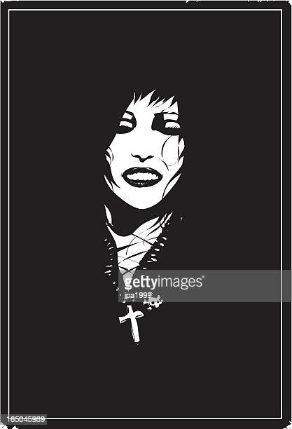 goth girl - goth stock illustrations, clip art, cartoons, & icons