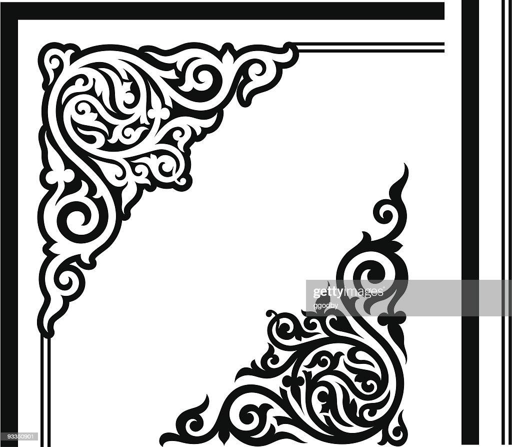 Gothic Corner Design Vector Art