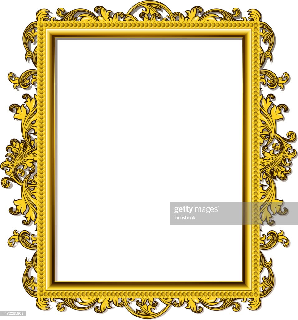 Gothic Style Blank Frame Vector Art | Getty Images