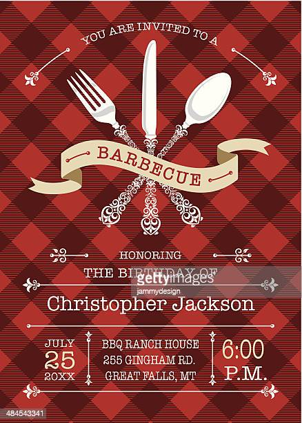 Gourmet Barbecue Invitation