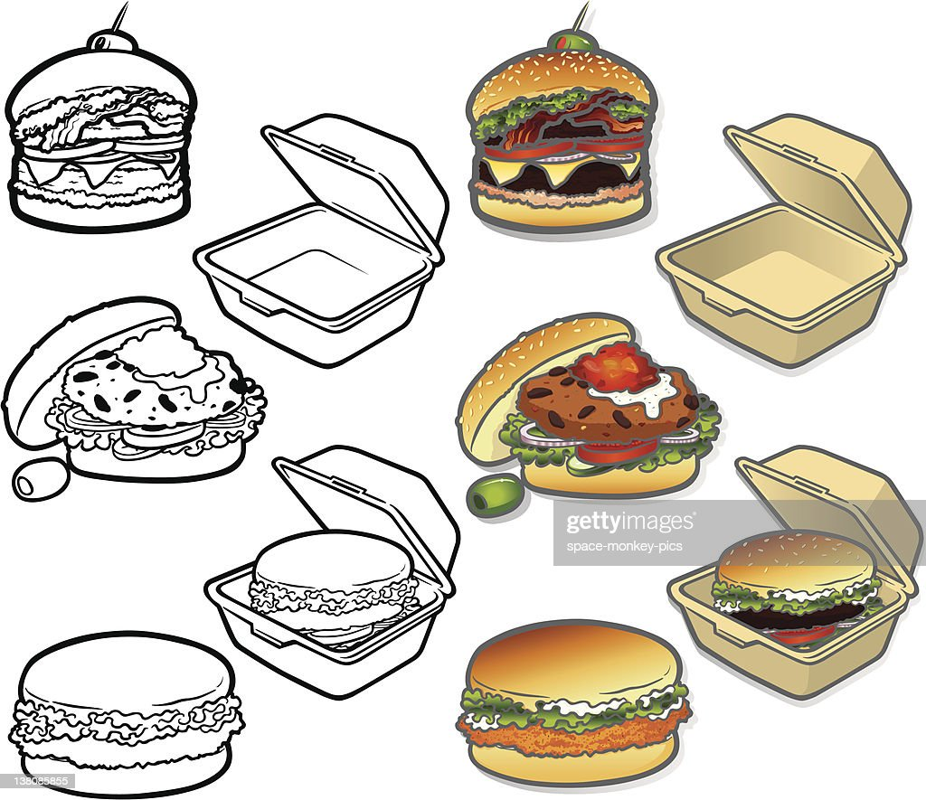 Gourmet Burger Icons