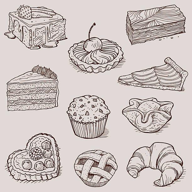 gourmet desserts and bakery collection - 餐後甜品 幅插畫檔、美工圖案、卡通及圖標