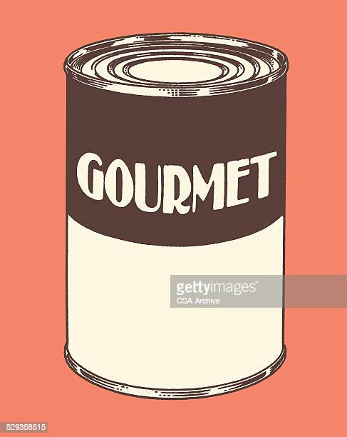 gourmet soup can - can stock illustrations