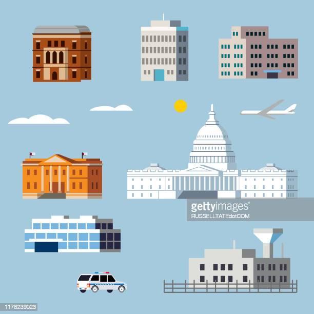 ゴブの建物 - 刑事司法点のイラスト素材/クリップアート素材/マンガ素材/アイコン素材