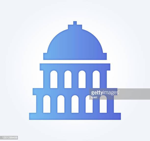 governance & compliance gradient fill color & paper-cut style icon design - criação digital stock illustrations