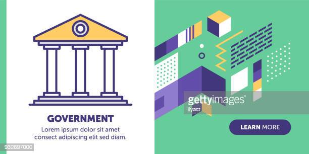 government banner - courthouse stock illustrations, clip art, cartoons, & icons