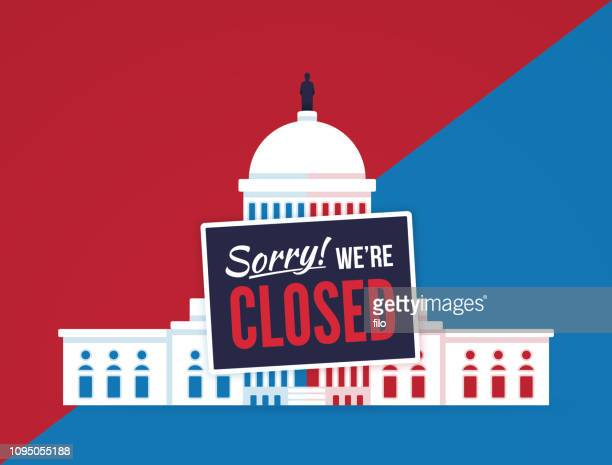 government shutdown - out of business stock illustrations, clip art, cartoons, & icons