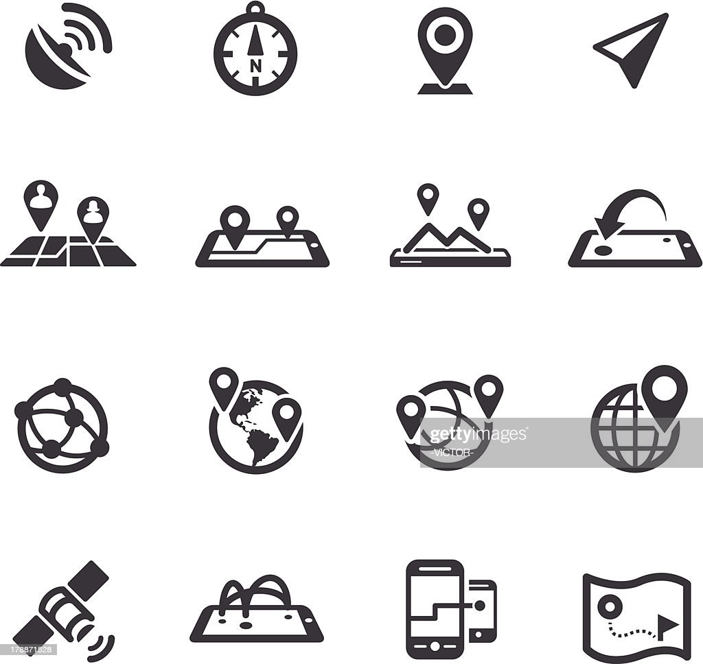 Gps, Location and Communication Icons - Acme Series