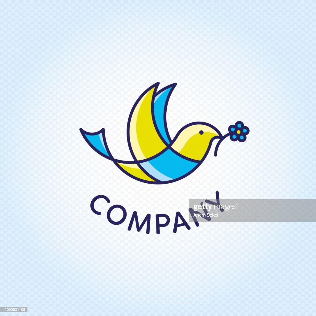 Grace Bird Logo Vector Design