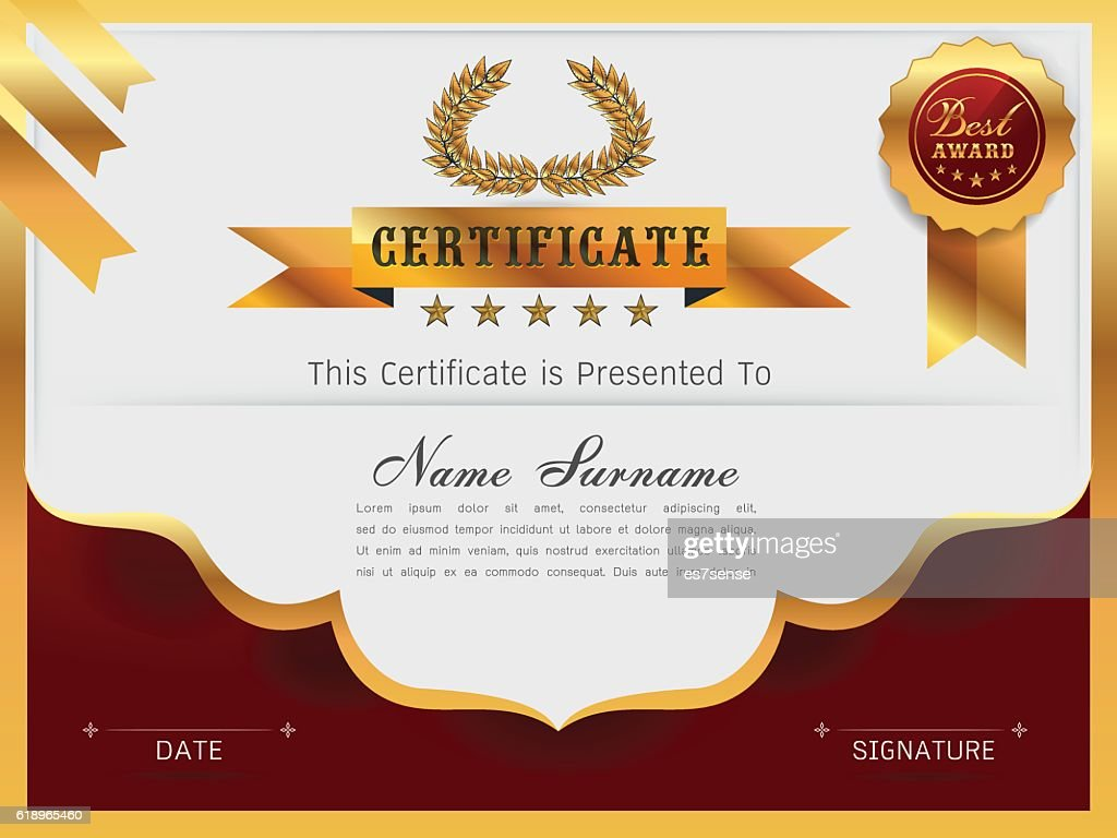 Graceful Certificate Template Vector Art Getty Images