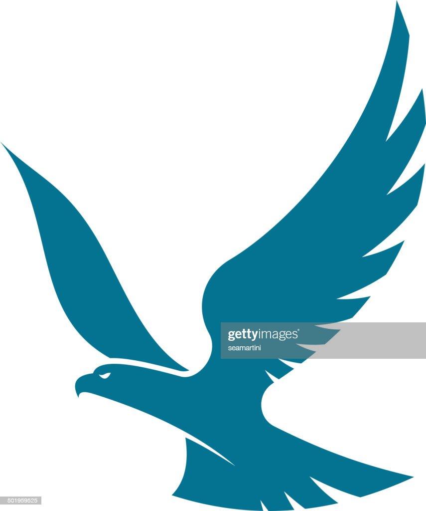 Graceful flying eagle