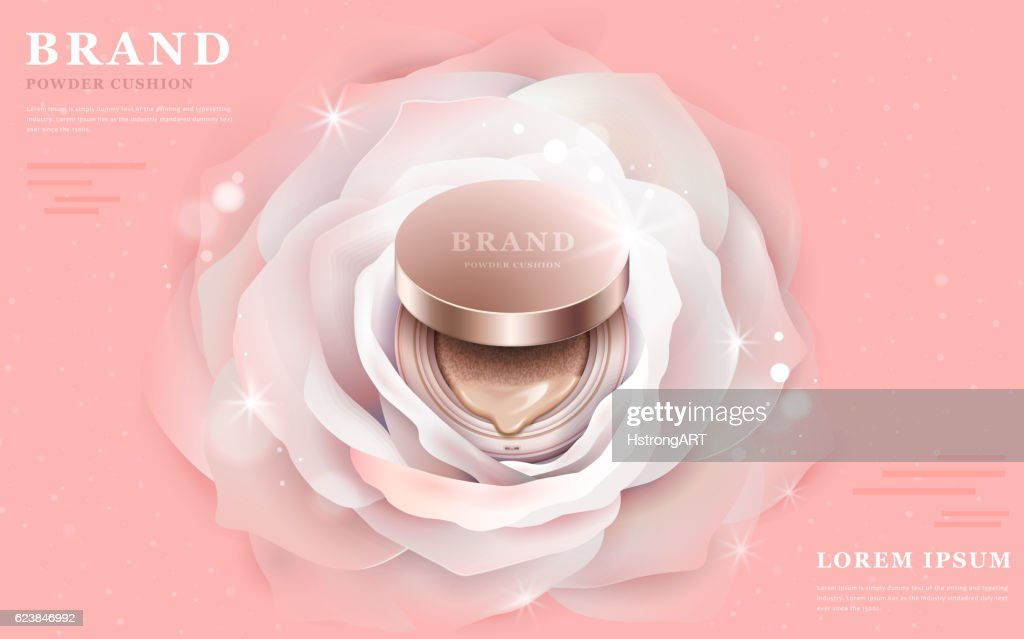 Graceful powder cushion ads