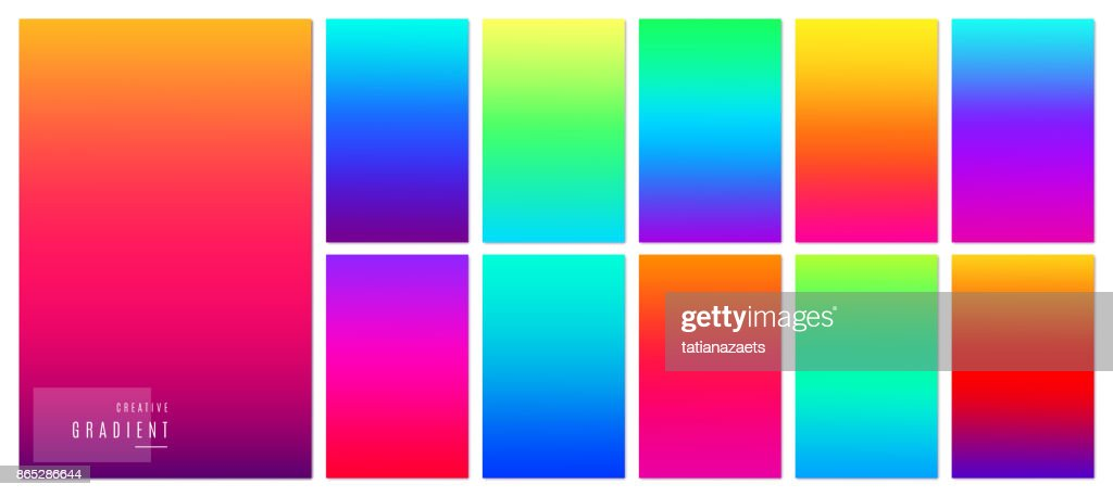 Gradient background. Creative soft color design for mobile app.