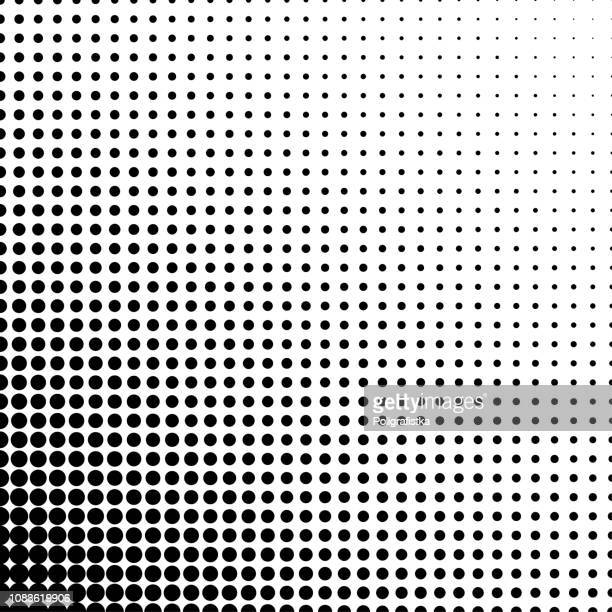 gradient black dots - white background - vector illustration - stipple effect stock illustrations