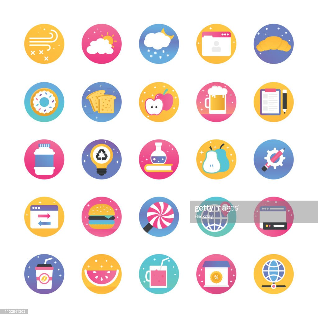 Gradient Flat Icons Pack