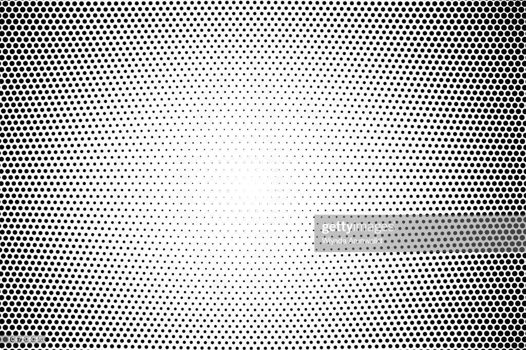 Gradient halftone dots background as pop art template with texture by vector illustration graphices