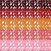 Gradient seamless pattern in natural flower colors. Hand drawn