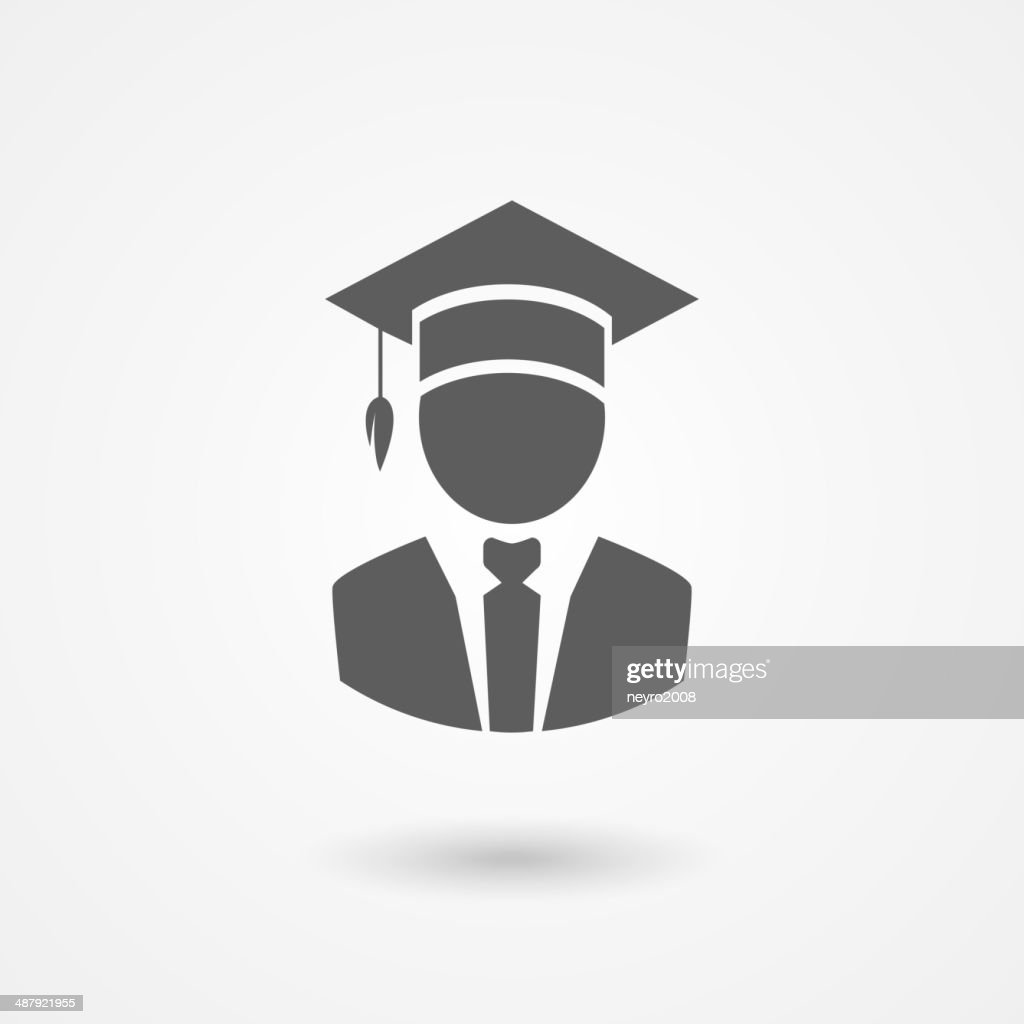 Graduate or professor in a mortarboard hat
