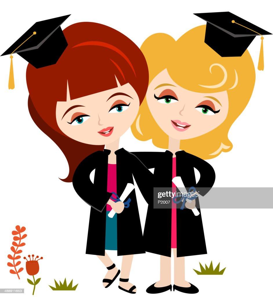 Graduates : stock vector