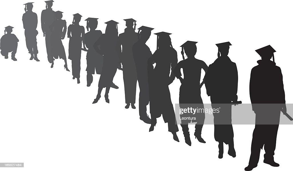 Graduates Waiting : Stock Illustration