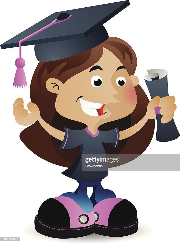 Graduating Girl : stock illustration