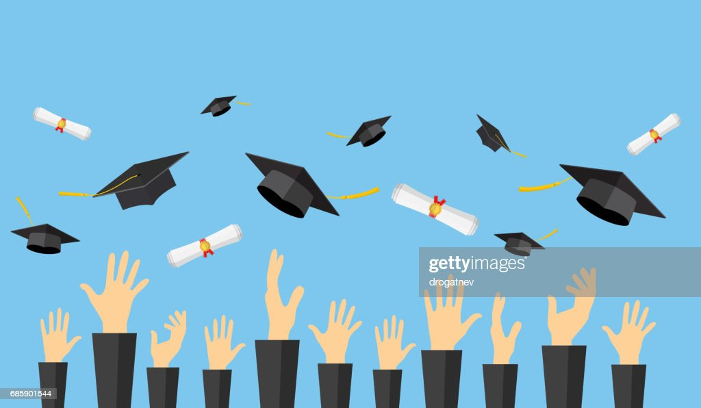 Graduating students of pupil hands