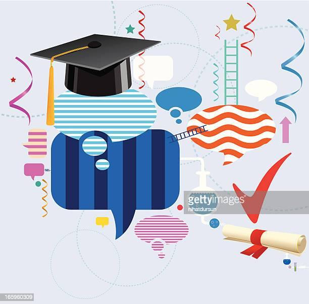 graduation and celebration - religious dress stock illustrations, clip art, cartoons, & icons