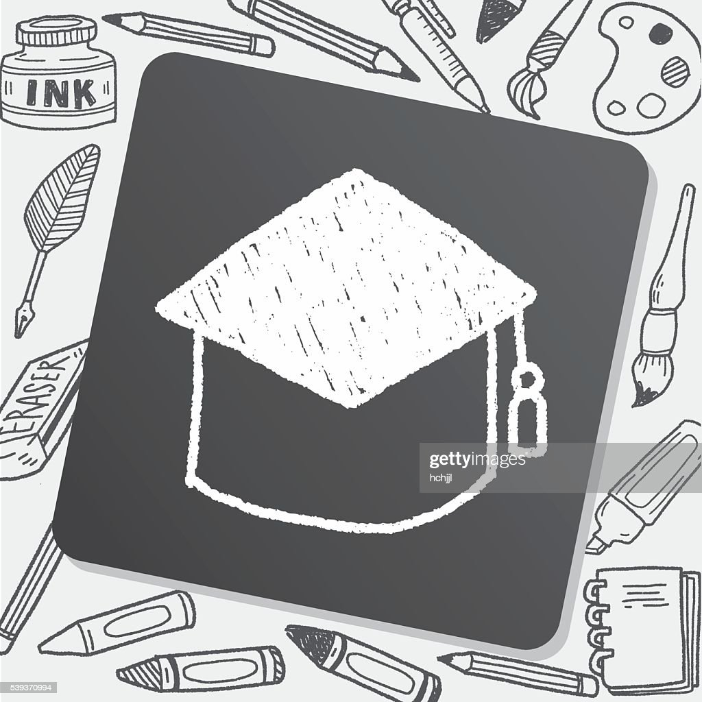 Graduation Cap Doodle Drawing Stock Illustration - Getty Images
