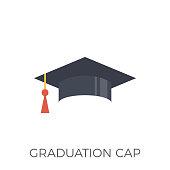 Graduation Cap Icon Vector