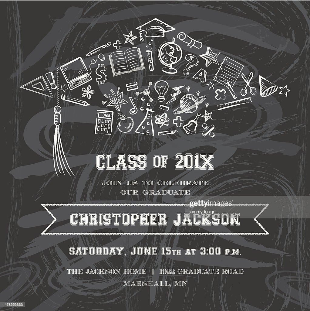 Graduation Cap Invitation Vector Art   Getty Images