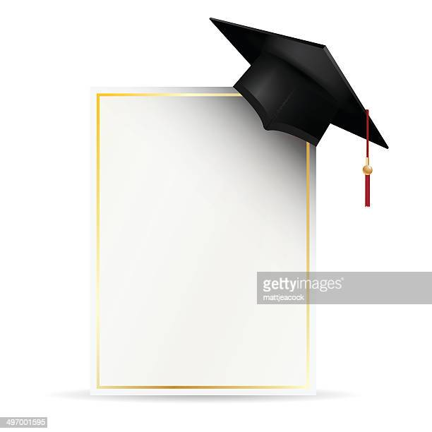 Graduation cap with blank sign