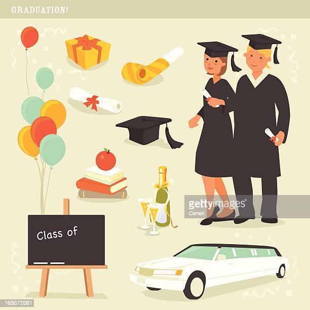 graduation celebration icons
