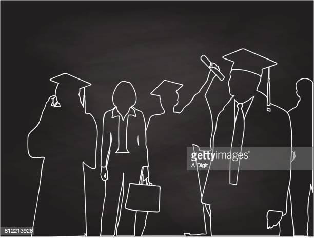 graduation ceremonies - high school stock illustrations, clip art, cartoons, & icons