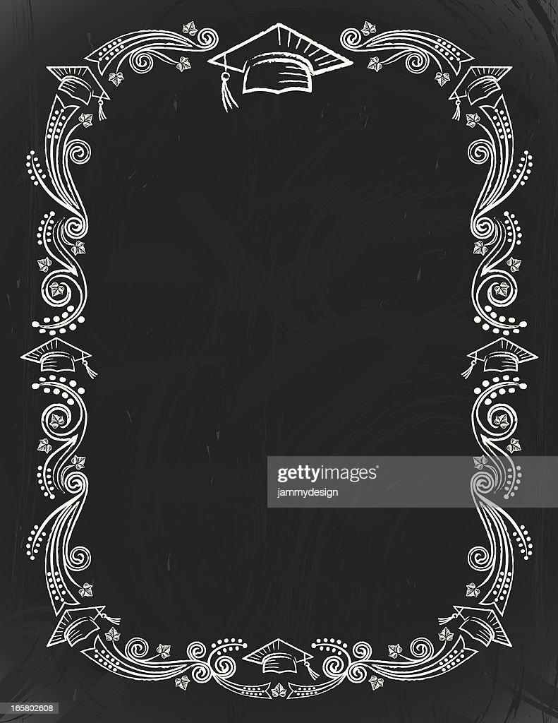 graduation chalkboard card vector art getty images