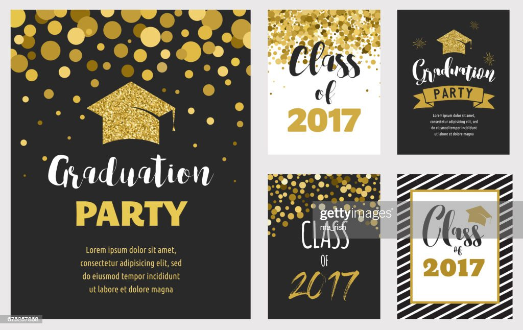 Graduation Class of 2017, party invitations