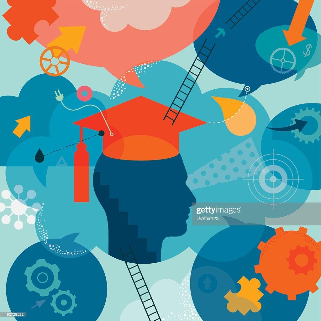 Graduation Concept : Stock Illustration