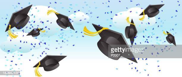 graduation day celebration - tassel stock illustrations