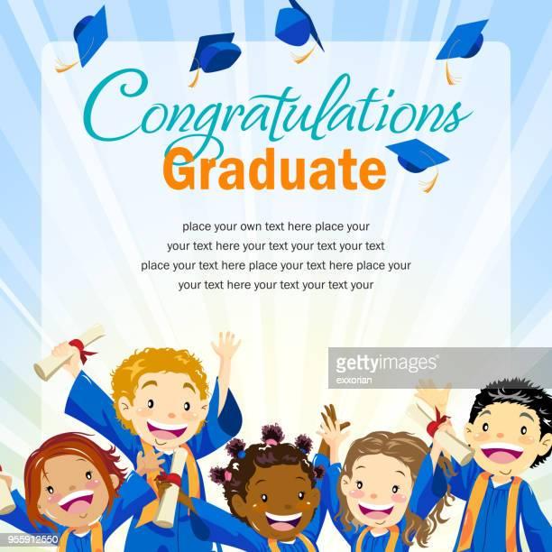 graduation day invitation - life events stock illustrations