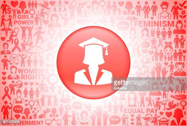 graduation face  girl power women's rights background - me too social movement stock illustrations, clip art, cartoons, & icons